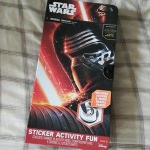 Nwt star wars activity set